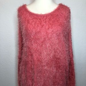 Soft pink fluffy sweater forever 21 new w/o tags